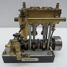 A scale model live steam stationary engine, twin