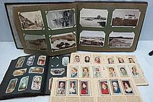 Postcard album with nice selection of WWII