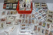 Cigarette trade cards, shell token sets, banknotes