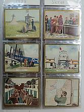 Medium cards, nine sets in sleeved album, Sarony,