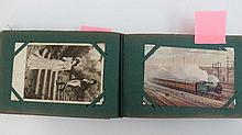 100 early 1900's postcards in album, mainly 1905
