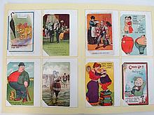 Postcard album with nice selection of early comic