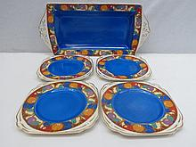 A Nelson ware sandwich set comprising tray and