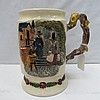 A Crown Devon musical tankard decorated with Welsh