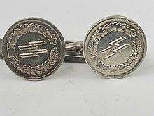 A pair of WWII German SS Officer's cufflinks.