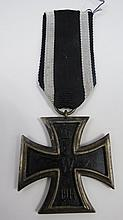 A WWI Iron Cross 2nd class, on a black and white