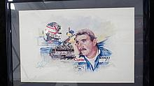 A Limited Edition print depicting Nigel Mansell