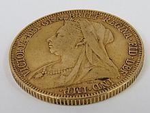 A Victorian gold Sovereign dated 1896