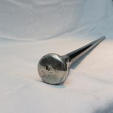 A gents silver topped ebony walking cane by