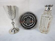 A delightful late 19thC travelling Communion set