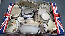 A quantity of vintage teawares by various