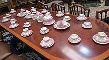 A large and ornate 19thC tea service for tea with
