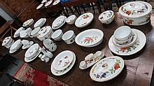 A large quantity of Royal Worcester dinnerware for