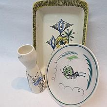 A Poole matt glazed plate (X/WJFG) with snail