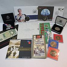 A collection of 20thC proof coins including D day