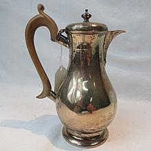 A Victorian hall marked silver hot water jug by