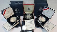 A collection of 20thC silver proof coins including