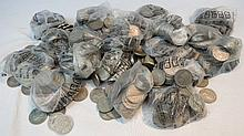 Approximately 1,000 two shilling coins, mostly