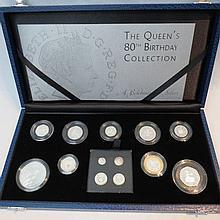 A boxed Queen Elizabeth II 80th birthday
