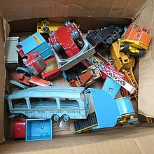A quantity of Dinky and Corgi die cast vehicles