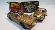 A Corgi Aston Martin DB5 from the film Goldfinger