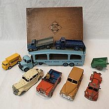 A Dinky Pullmore car transporter no. 582, together