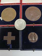 A Queen Victoria Diamond Jubilee bronze medal (1837-1897), 6cm diameter, in case; King Edward VII and Queen Alexandra Coronation medal (1902), 5.5cm d