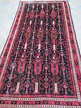A Luri traditional style rug in black and red