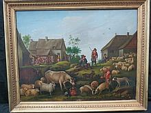 Oil on canvas, Continental School, possibly Dutch.