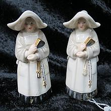 A pair of Royal Worcester candle snuffers in the