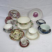 A Meissen handpainted small plate depicting a fort
