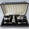 An HM silver condiment set in Georgian style