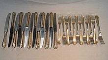 An early 20thC German part service of cutlery,
