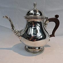 A silver teapot, Birmingham 1966, of squat
