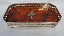 A silver plated rectangular gallery tray, the