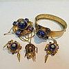 A suite of Victorian enamelled jewellery