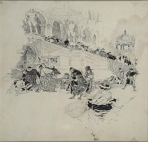 Joseph Clement Coll (1881-1921)Drawing, ca. 1912;