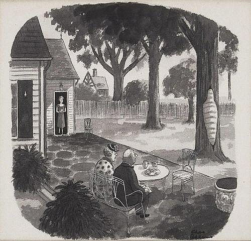 Charles Addams (1912-1988)Gag cartoon, New Yorker,