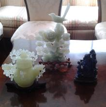 Chinese Carved Stones - 3 Pieces