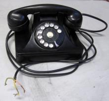 1930'S ART DECO BLACK ROTARY DIAL TELEPHONE NORTH ELECTRIC