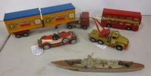 5 ASSORTED LARGE SCALE AND MISC. MATCHBOX TOYS SUPER KINGS WRECKER+