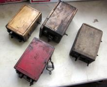 4 ANTIQUE WOOD CASE FORD MODEL T BUZZ COILS