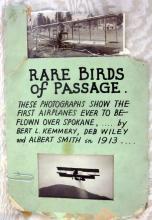3 FIRST AIRPLANE FLIGHT IN SPOKANE 1913 PHOTOSPOSTCARD ON SCRAP PAGE