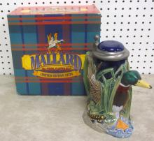 BUDWEISER MALLARD IN THE CATTAILS LIMITED EDITION STEIN