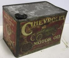 RARE EARLY 1900'S CHEVROLET MOTOR OIL CAN BRITISH AMERICAN CO.