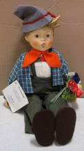 GOEBEL HUMMEL DOLL EASTER GREETINGS WITH PORCELAIN HEAD