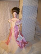 FRANKLIN MINT HEIRLOOM LAURA THE DEBUTANTE GIBSON GIRL PORCELAIN DOLL WITH BOX 22