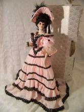 FRANKLIN MINT HEIRLOOM VICTORIA COCA-COLA GIBSON GIRL PORCELAIN DOLL W/ BOX + TAG 19