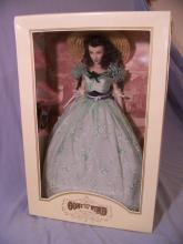 FRANKLIN MINT SCARLETT O' HARA TWELVE OAKS BARBECUE VINYL PORTRAIT DOLL W/ BOX COA TAG 16