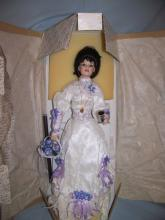 FRANKLIN MINT HEIRLOOM EMMA COCA-COLA GIBSON GIRL PORCELAIN DOLL W/ BOX COA+ 21